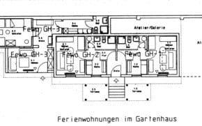 Grundriss Gartenhaus, Fewo GH-1 rechts