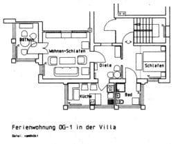 Grundriss Fewo OG-1 Villa