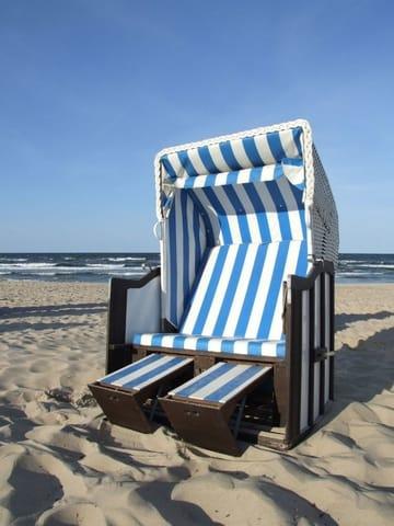 Im Strandkorb am nur 80m entfernten Strand