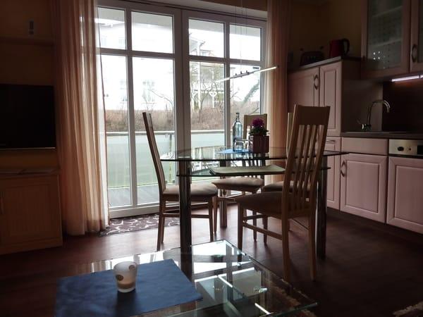 Schiebefenster zum Balkon