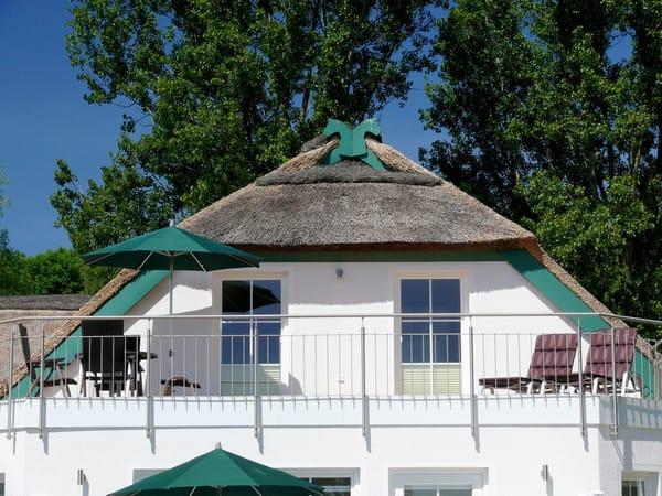 Dachterrasse vom Garten aus