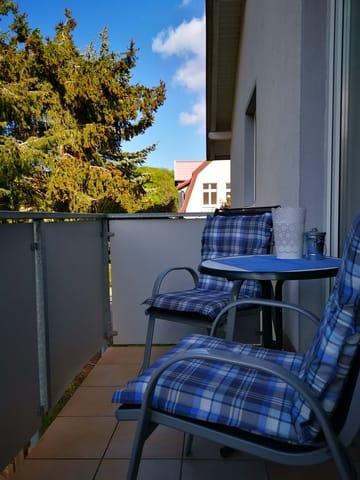 Balkon der Wohnung Wollin