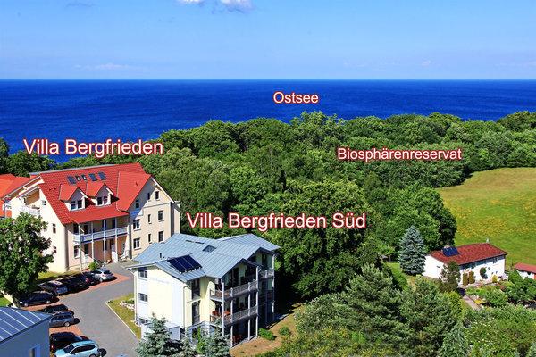 Lage der Villa Bergfrieden