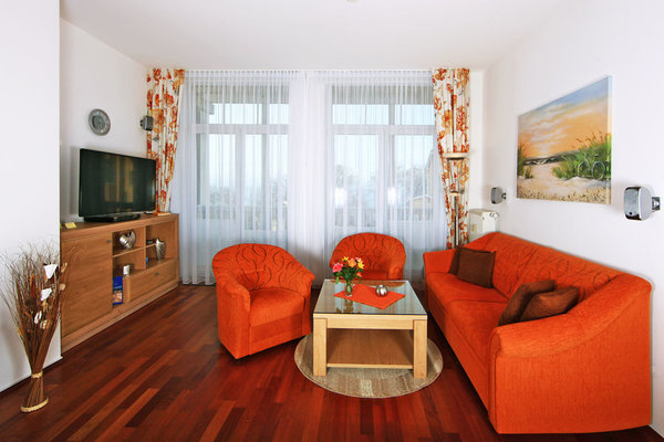 Wohnzimmer - mit Meerblick