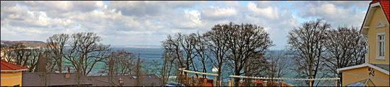 Urlaub mit Meerblick - Blick vom Balkon im Mai in Richtung Sassnitz