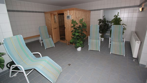 Sauna im Haus (Keller)