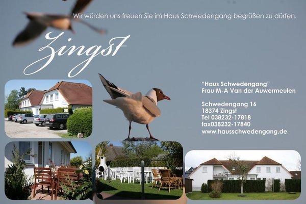 Es stehen noch weitere 6 Ferienwohnungen bis zu 4 Personen zur Verfügung.Auch mit Balkon oder eigener Terrasse.Alle Daten und Details auf unserer Web Site: www.hausschwedengang.de