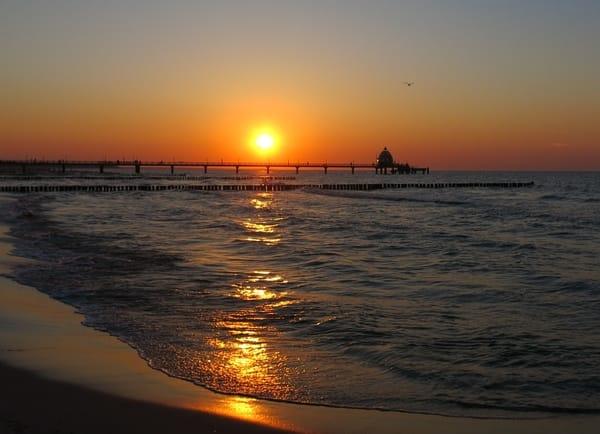 Romatik pur - am Zingster Strand den Sonnenuntergang genießen !