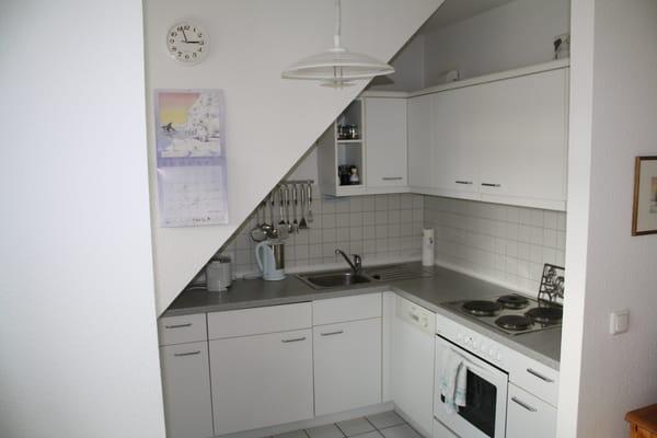 Küche geht in das Wohnzimmer über