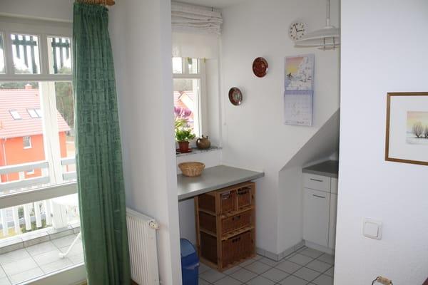 Küche - Zugang zum Balkon