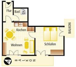Wohnungsgrundriß