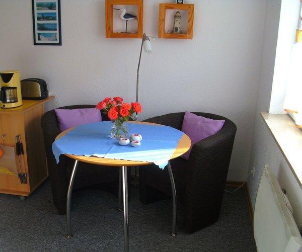 Sitzgruppe im Wohn-Küchenbereich