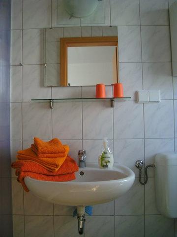 Dusche WC Handwaschbecken