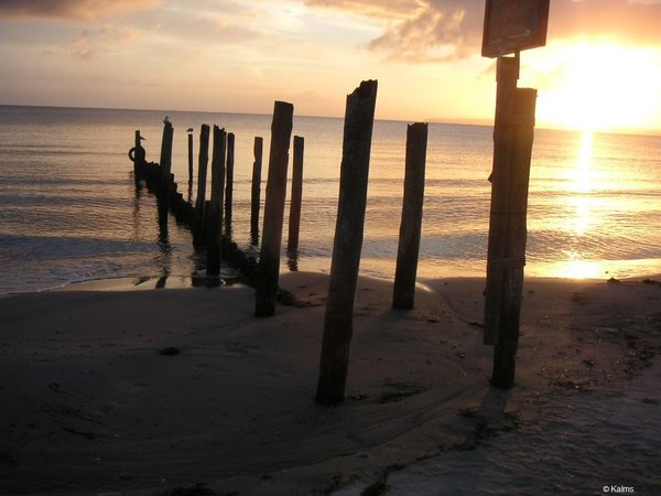 Strand hinter der Dünenresidenz im Sommer ...