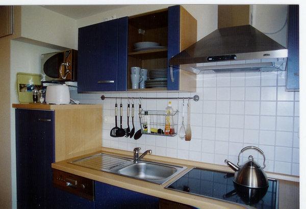 Küchenzeile mit Spülmaschine, Microwelle, Ceran-Kochfeld, Backofen u. v. m.