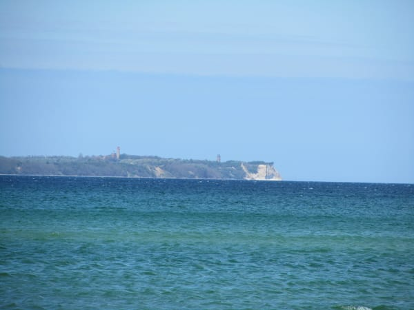 Blick vom Strand Richtung Kap Arkona