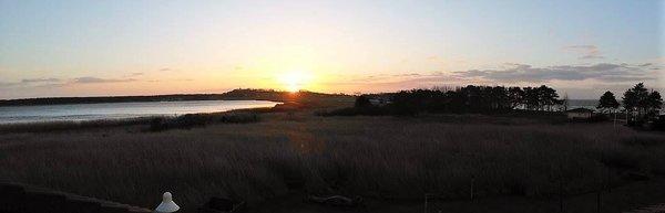 Sonnenuntergang mit Blick auf Zickersee