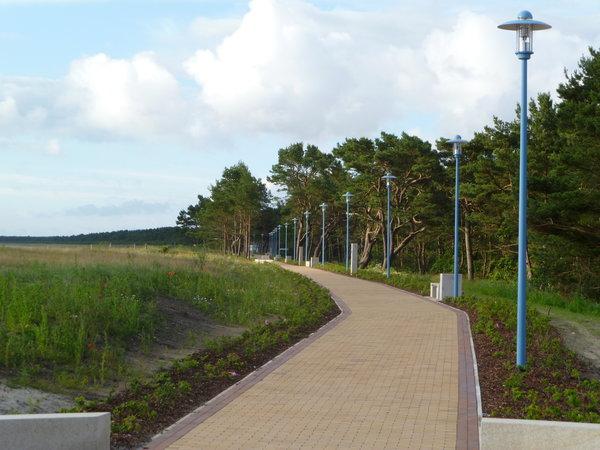 Die neue Seepromenade im Ostseebad Juliusruh