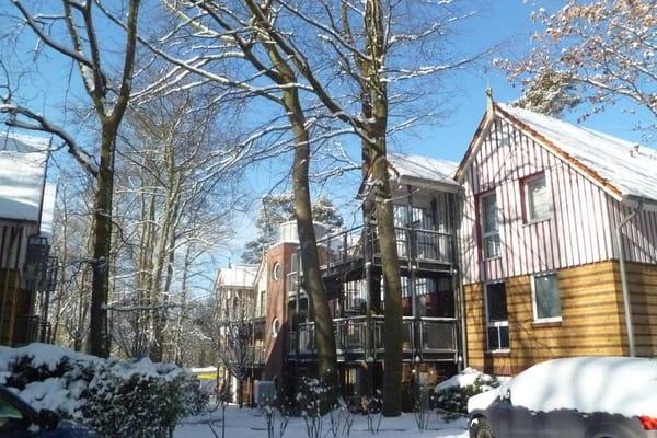 Außenansicht Ferienwohnung Haus Seeblick im Winter
