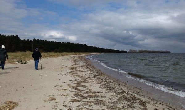 Strand-Wanderung