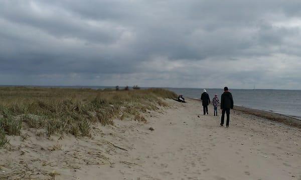 Wanderung am Strand