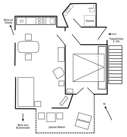 Grundriss 42 m²
