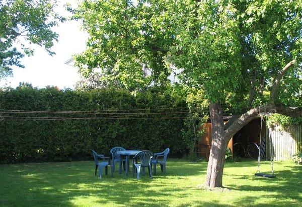Gästegarten mit Apfelbaum