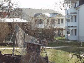 Blick von der Promenade zur Ferienwohnung im Haus MAX
