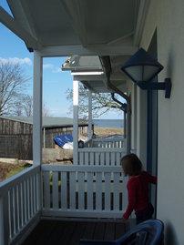 Blick vom Balkon Richtung Ostsee