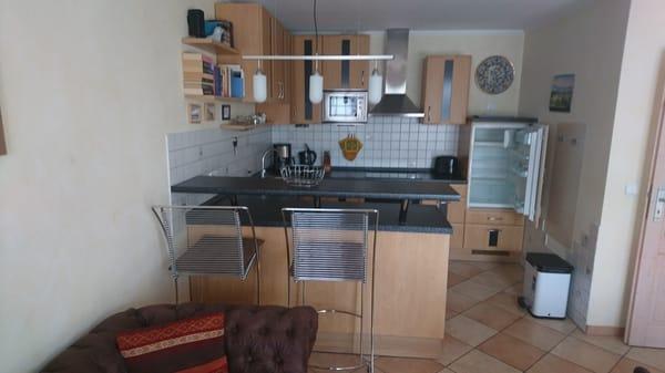 offene Küche u.a. mit Geschirrspüler und Waschmaschine