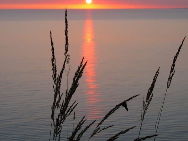 Sonnenaufgang am Ostseestrand-Urlaub ;-)
