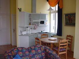 Wohnzimmer Ansicht Küchenzeile