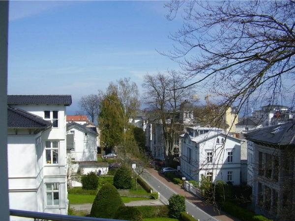 Blick vom Balkon des Schlazimmers.