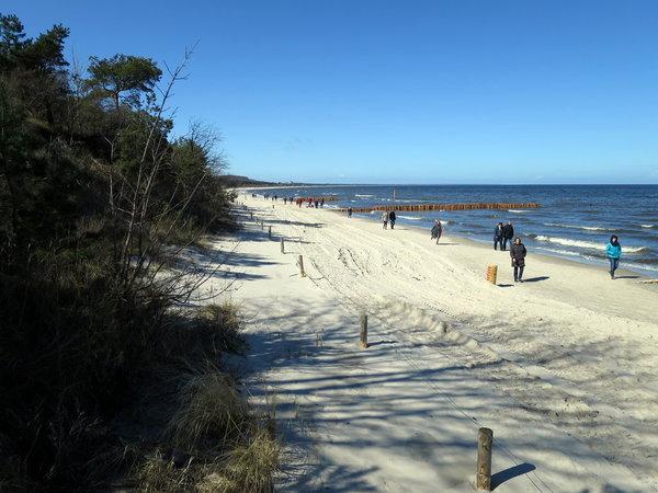 Strandspaziergang im Frühling