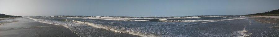 Blick auf die Ostsee in der Schaabe zwischen Glowe und Juliusruh