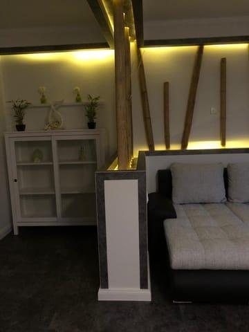 Wohnzimmer Abends Hintergrundbeleuchtung
