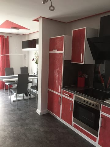 Küche mit Blick auf Essplatz