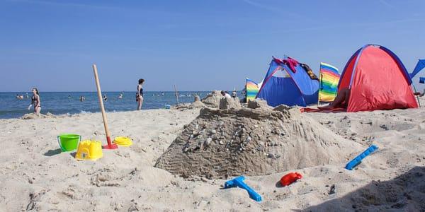 Nicht nur ein Kinderparadies: Der Strand von Baabe
