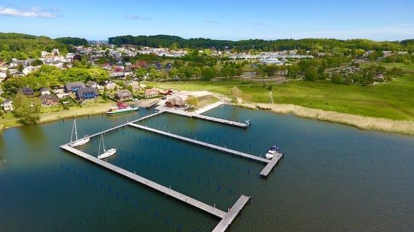 Hafen von Sellin. Direkt an der Ferienwohnung