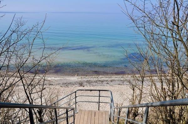Strandansicht Anfang April