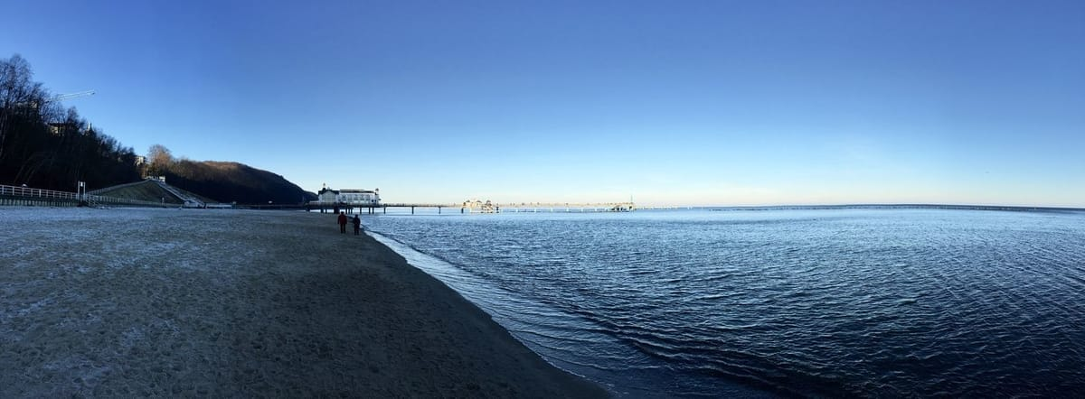Strandspaziergang nach Sellin zur Seebrücke