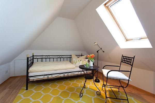 Schlafzimmer 4 im Dachspitz ideal für verträumte Seelen