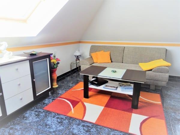 Wohnzimmer-  Doppelbettcouch