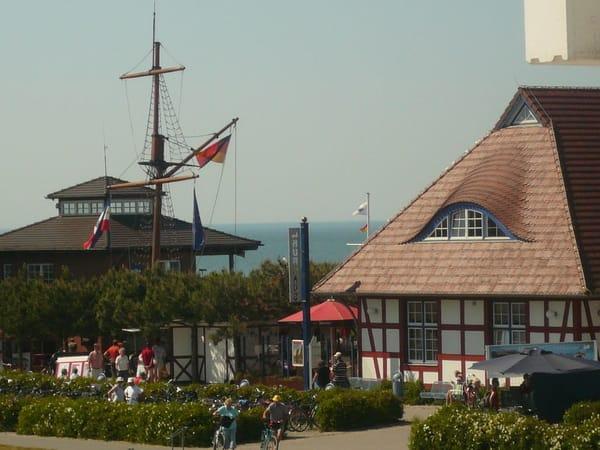 Blick vom Balkon Richtung Kurhaus/Seebrücke