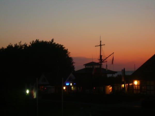 Blick vom Balkon/Sonnenuntergang