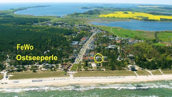 Lage der Ostseeperle in Baabe