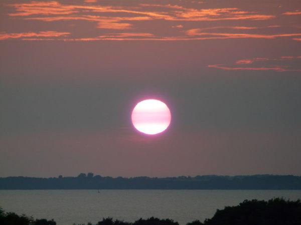 Jeden Abend anders - die berühmten Sonnenuntergänge von Lohme