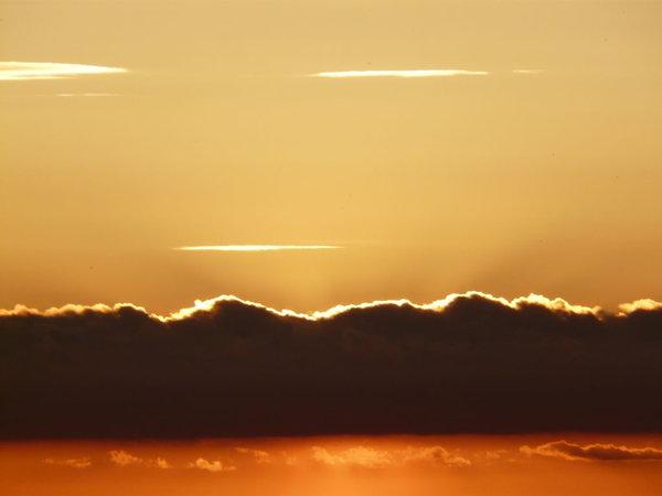 Der Sonnenuntergang in Lohme - jeden Abend ein begeisterndes Spektakel!