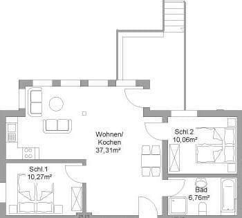 Grundriss Wohnung IV