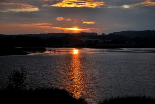 Sonnenuntergang über dem See, von einem Gast fotografiert